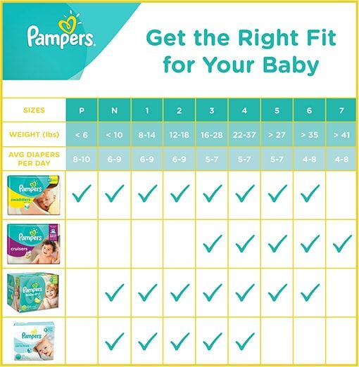 Find the diaper and size perfect for your baby.