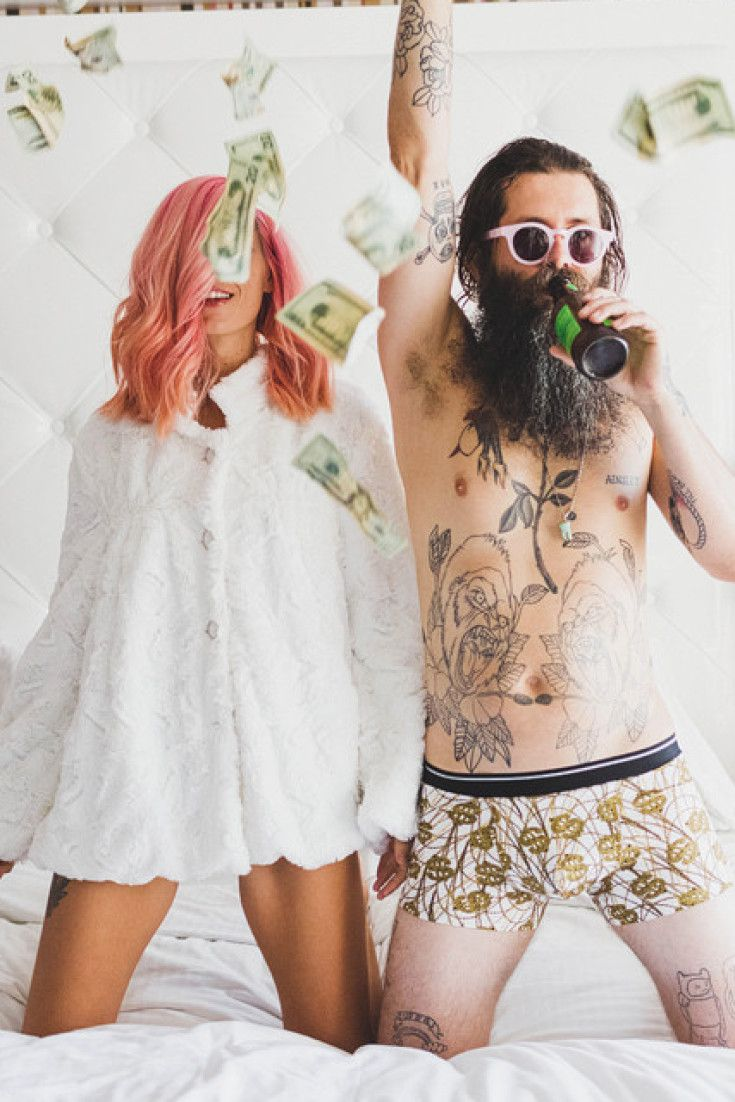 Love her dress, her hair, their story.  - This Badass Couple's Vegas Elopement Is The Epitome Of Cool