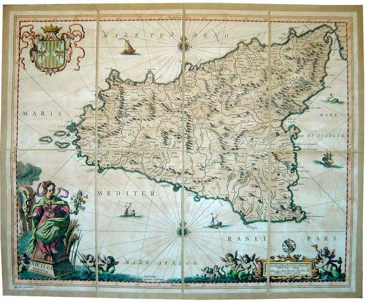 Risultati immagini per carta geografica sicilia antica