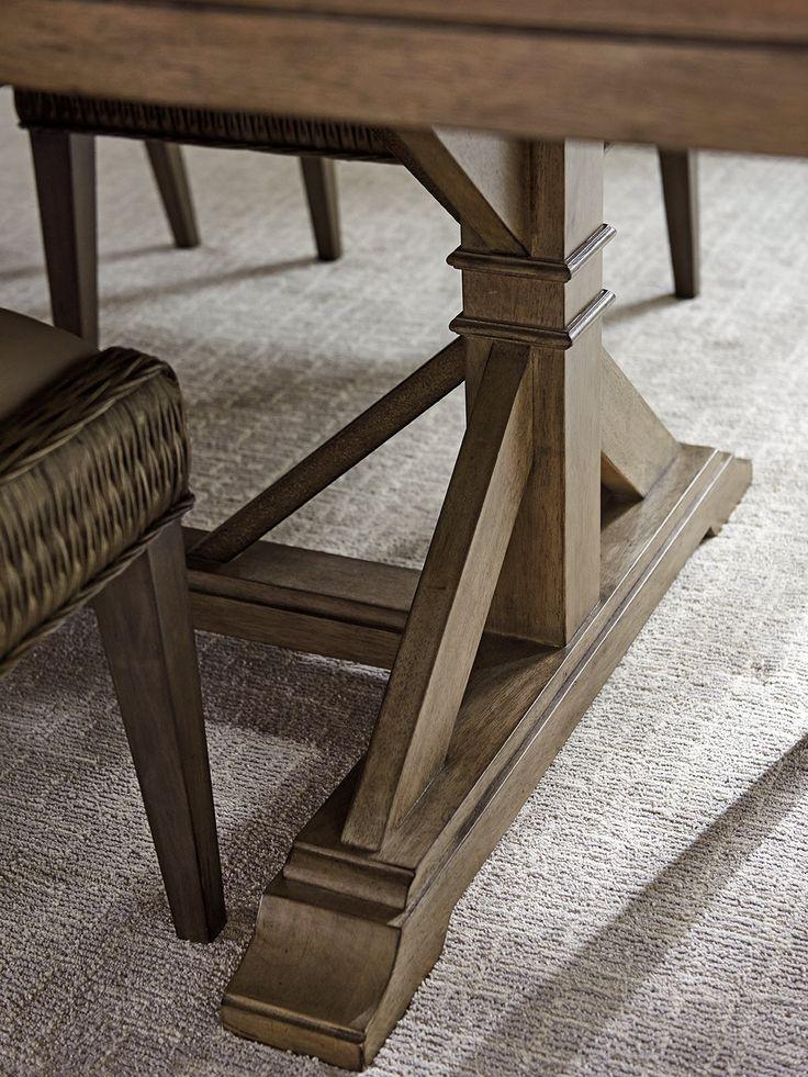 Cypress Point Пирпойнт Двойной Пьедестал Обеденный стол |  Lexington Home Brands