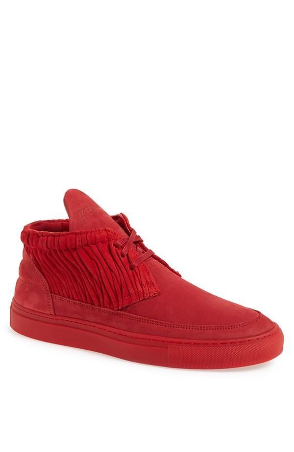 Pièces De Remplissage Plate-forme Unique Chaussures De Sport - Rouge GNOWYX