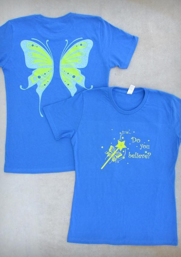 Fairy Wings – Women's Royal Blue Crew Neck T-shirt
