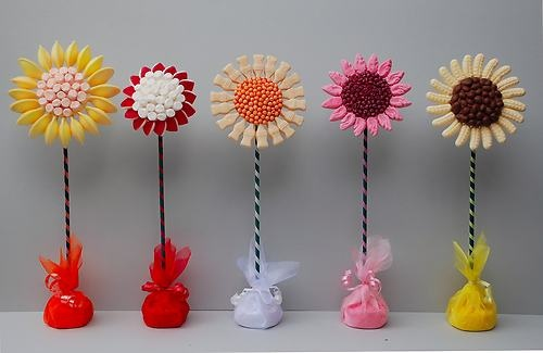 5 STANDING CANDY FLOWERS - DIY KIT WITH NO SWEETS - GIFTS/WEDDINGS/SWEET TREE | eBay