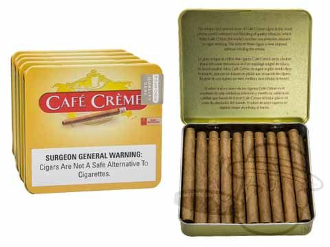 Cafe Creme Cigarillos 3 x 20—Tins: 100 Cigarillos - Best Cigar Prices