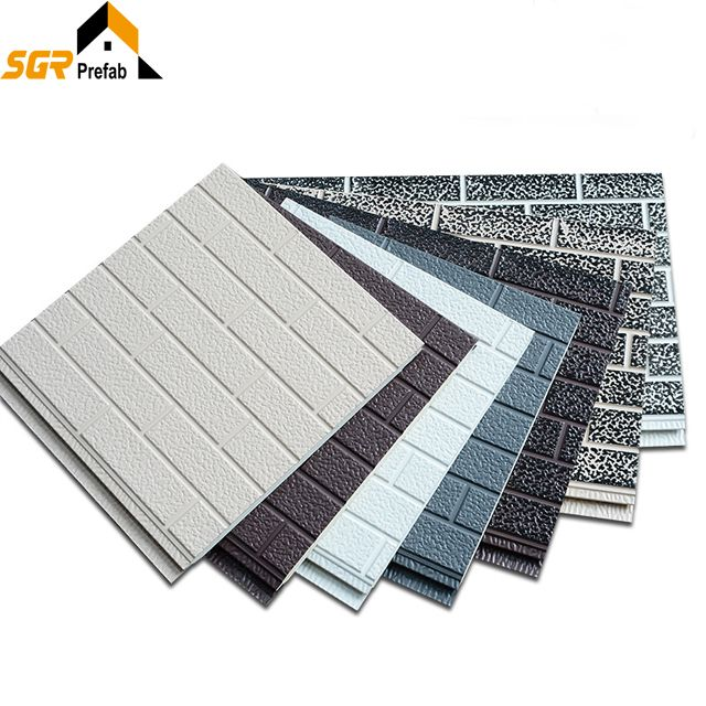 6 8 Sqm Manufacturer Provide Fireproof Metal Heat Insulation Decorative Exterior Wall Pu Pan Thermal Insulation Materials Insulated Panels External Insulation