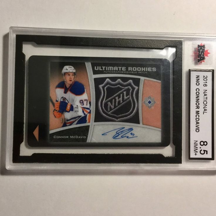 Connor McDavid Upperdeck rare key card graded rookie