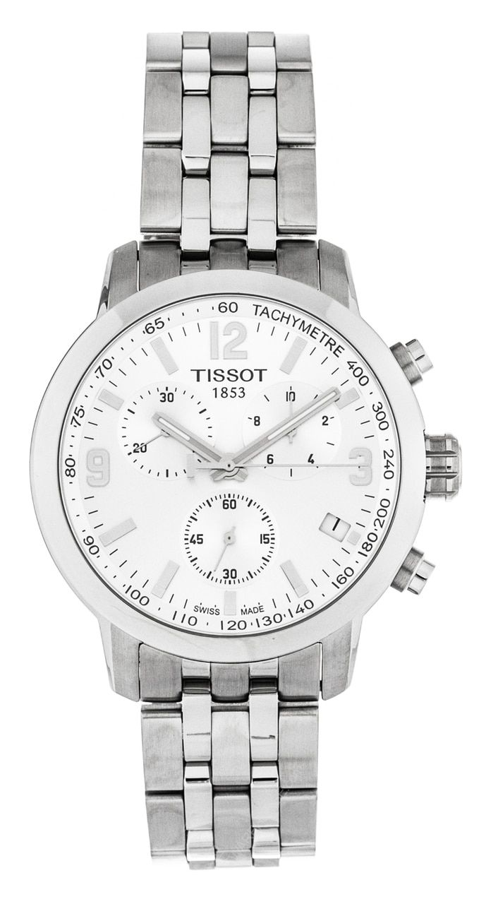 9e1d217ef0d Shop for Tissot T0554171103700 PRC 200 Chronograph Steel Men Silver Dial  Watch for less at watchwarehouse