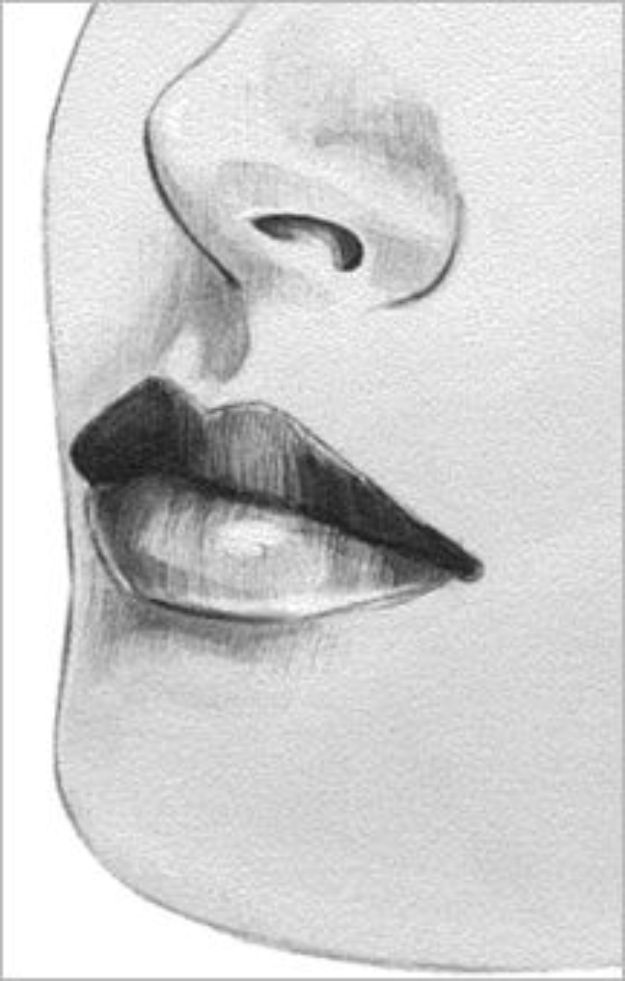 100 Tutorials To Teach You How To Draw Lips Drawing Drawing