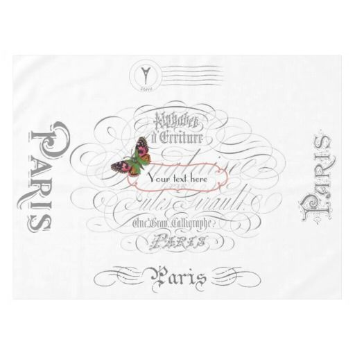 Vintage Paris Theme Wedding Personalized Tablecloth