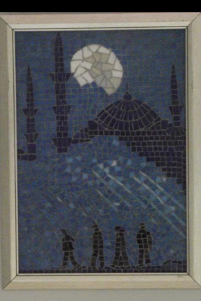 Blue mosque mosaic