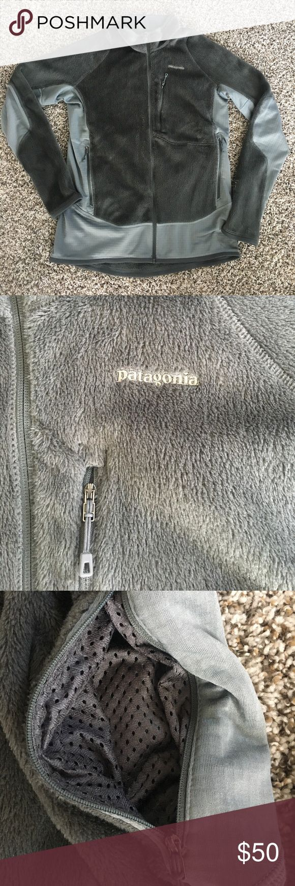 Men's Patagonia Grey Jacket L Men's Patagonia Grey Jacket Size L. Like New. Polar Tech fabric. Pockets and thumb holes. Great condition. Patagonia Jackets & Coats Performance Jackets