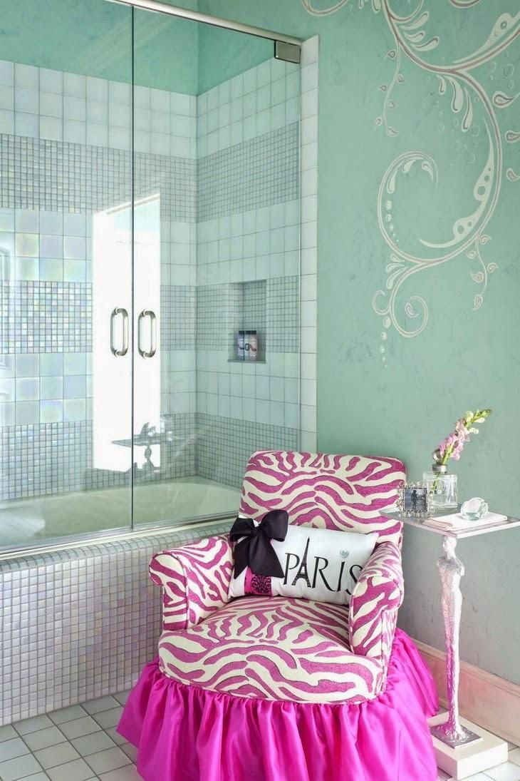 Purple and zebra bathroom ideas - Over The Top Girly Bathroom With Beautiful Tile And Glitter Grout Love It Wish I Could Tie In The Colors With Minnie Mouse And Zebra