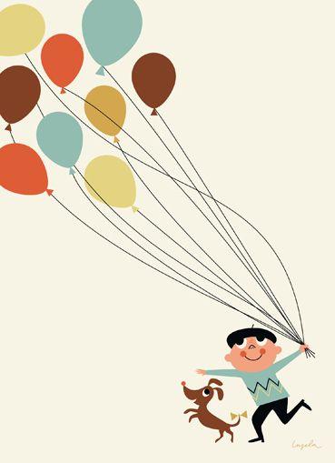 balloons - by swedish illustrator, ingela p. arrhenius http://www.husandhem.co.uk/paper/901-ingela-arrhenius-tivoli-poster.html
