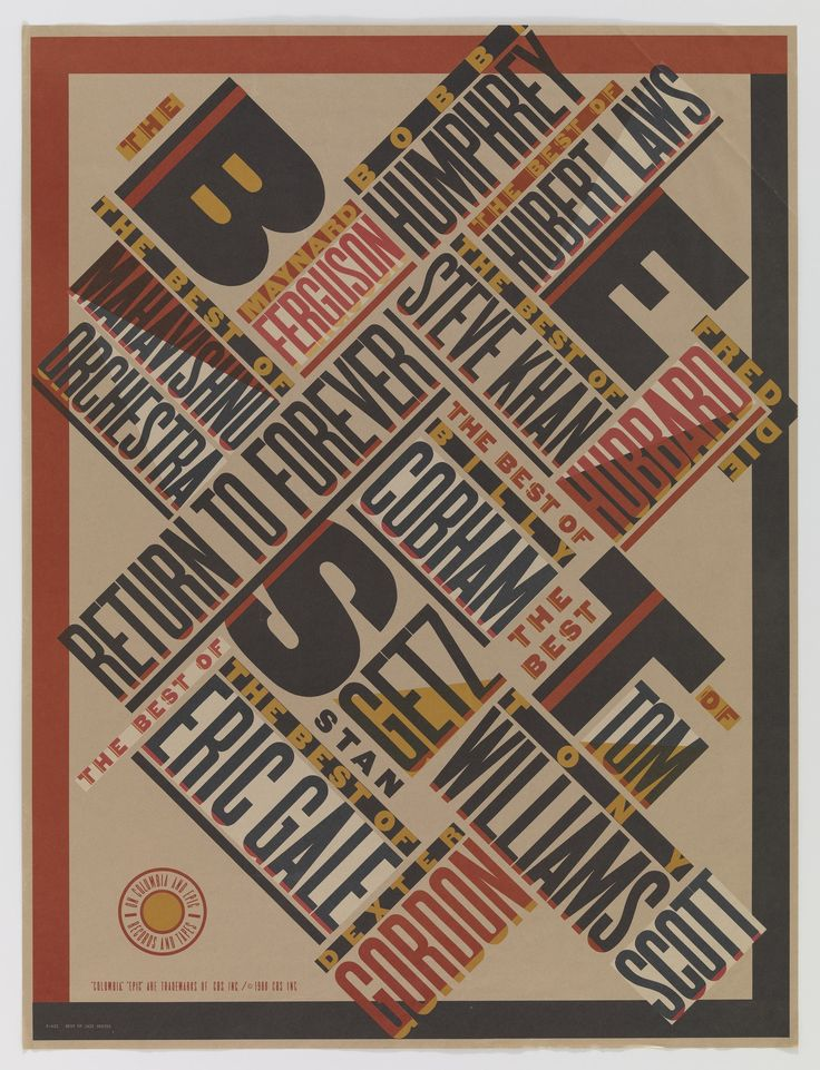 Paula Scher. Best of Jazz. 1979
