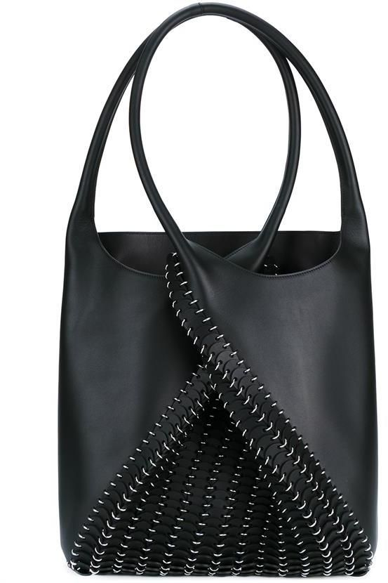 PACO RABANNE Pliage Leather Bucket Bag