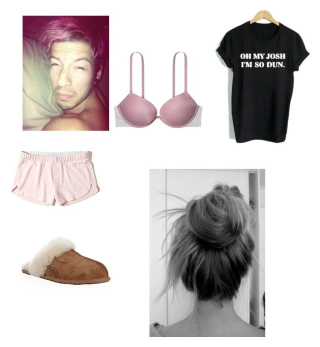 """""""Untitled #260"""" by alexielee on Polyvore featuring WithChic, Hollister Co., UGG Australia and Victoria's Secret"""