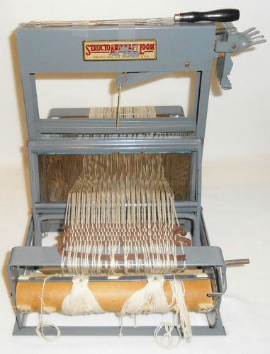 Antique Vintage Structo Artcraft Table Loom 4 Harness Weaving Machine Nice | eBay - my first weaving class at FIT - NYC was on one of these looms!