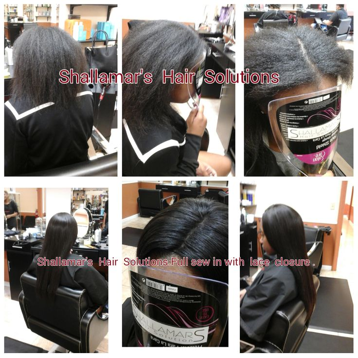 Full sew in with Lace closure ..