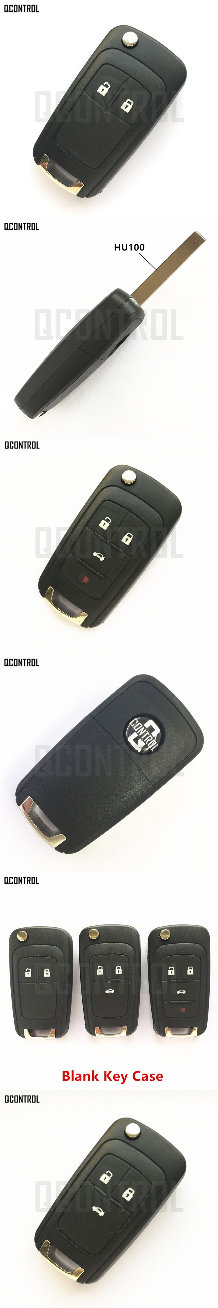 QCONTROL Car Remote Key Case for Chevrolet Malibu Cruze Aveo Spark Sail 2/3/4 Buttons