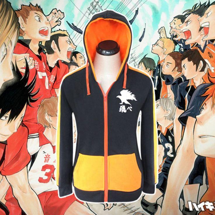 Japanese Anime Haikyuu !! Shoyo Hinata Cosplay Costume Karasuno High Team Uniform Cosplay Hoodie S-XXL Anime Cosplay