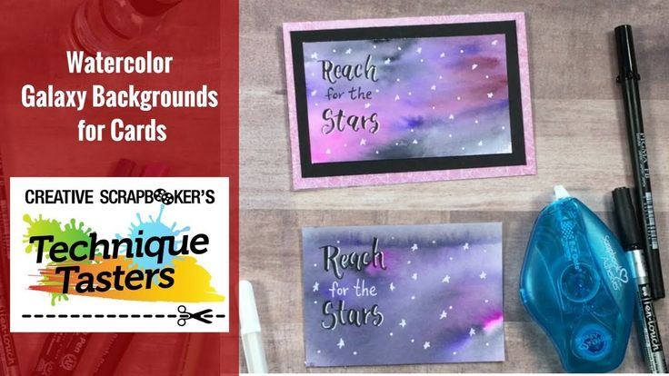Watercolor Galaxy Backgrounds for Cards - Technique Taster #136