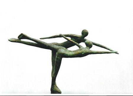 Bronzen beelden - Ijsdanspaar Belusova-Protopopov