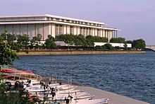 the Kennedy Center on the Potomac River