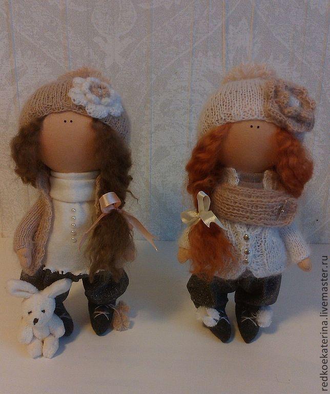 Купить Эмми и Элли - ручная авторская работа, текстильная кукла, интерьерная игрушка, подарок