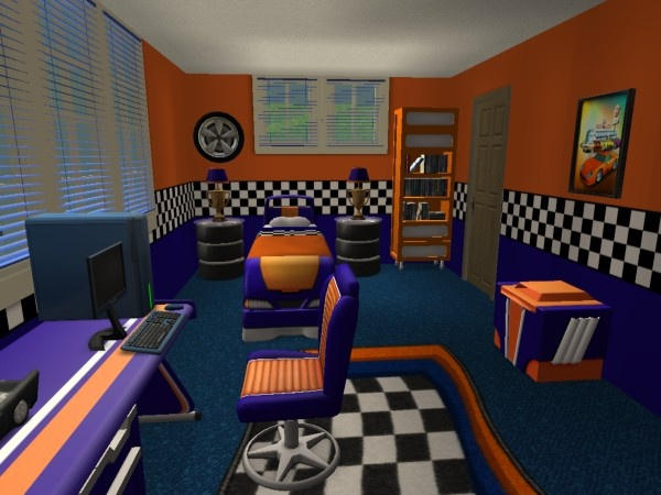 Race Car Bedroom Sims 2 Interiors Pinterest Race Car Bedroom And Car Be