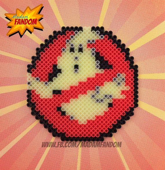 Ghostbusters logo van strijkkralen om na te Maken