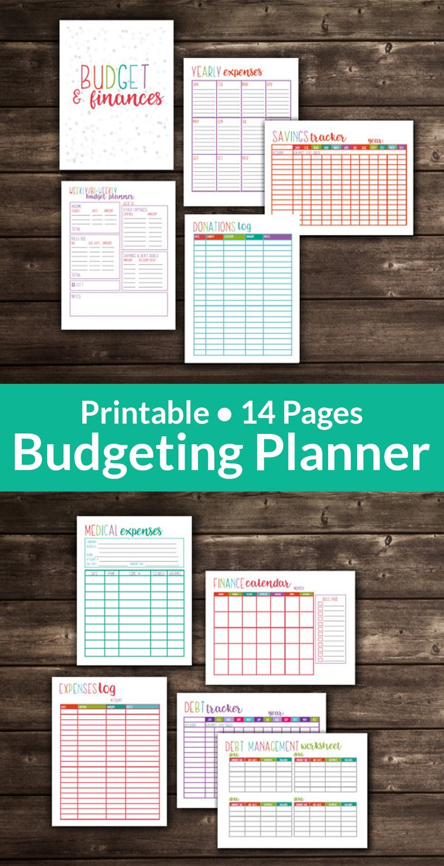 Printable Budget Planner, Budget Printables, 14 Pages Included in both Letter & Half Letter Size, EDITABLE, Instant Download | #budgeting #budget #personalfinance #money #frugalliving #afflink