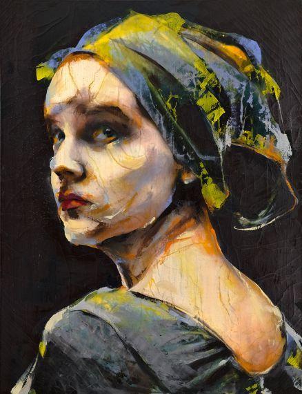 """Uno de los trabajos de Lita Cabellut, pintora y escultora española que plasma un """"expresionismo ardiente"""" en cada uno de sus retratos. Niña afortunada, pasó del abandono en las calles a la prestigiosa Rietveld Academy de Amsterdam, gracias al apoyo de sus padres adoptivos."""