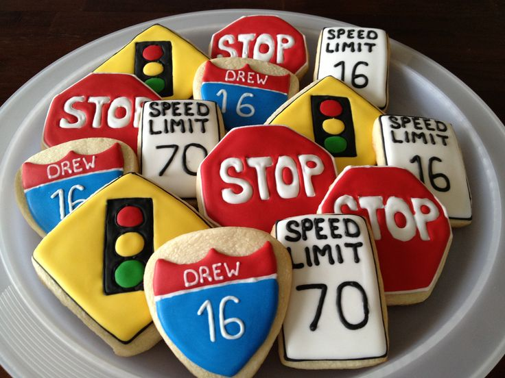 A great idea for cookies at the 16th birthday party for a new (or soon to be) driver