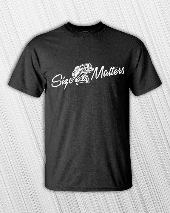 Size Matters Fishing Shirt Men's T-shirt - Clothing - Tee Shirt - Funny - Fishing - Gift For Fisherman - Funny Gift - Funny Fishing Shirt