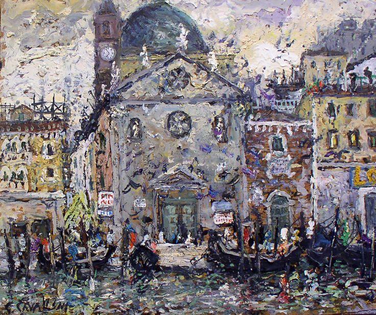 382 - Venezia - Chiesa e Gondole - 50 x 60