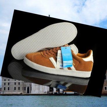 2015 Adidas gazzella 2 uomini camoscio marrone scarpe da tennis bianche Italia maglia miscela perfetta di tecnologia e campo