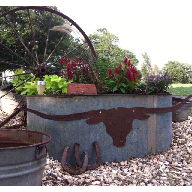 Better Homes And Gardens Metal Trough For Plants