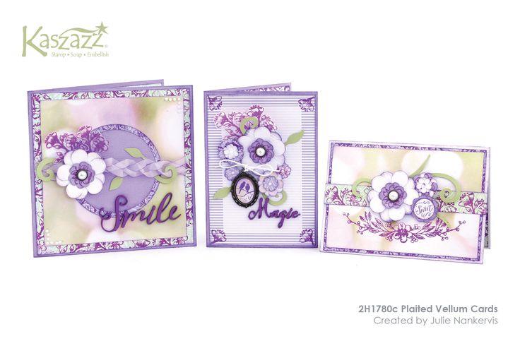 2H1780c Plaited Vellum Cards