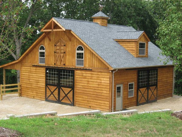 Build small horse barn woodworking projects plans for Small horse barn plans