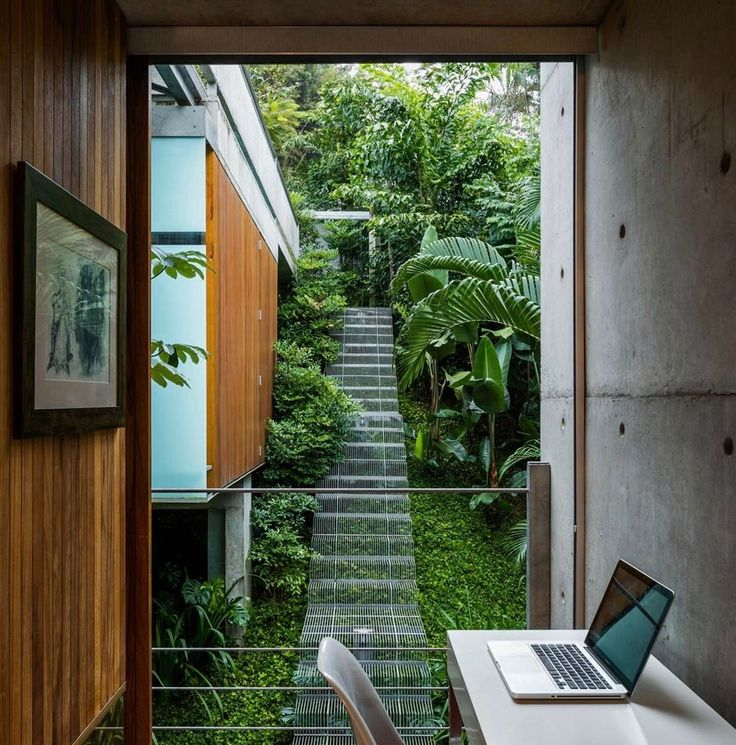 We thought this was absolutely stunning. The steel staircase blends it perfectly with the surroundings.