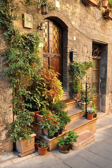 Assisi, Italy.  One of the many beautiful doorways in this well preserved medieval village
