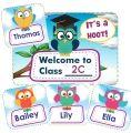 Owl Classroom Welcome Display - Editable