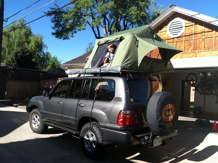 100 Series With Roof Top Tent Land Cruiser Pinterest