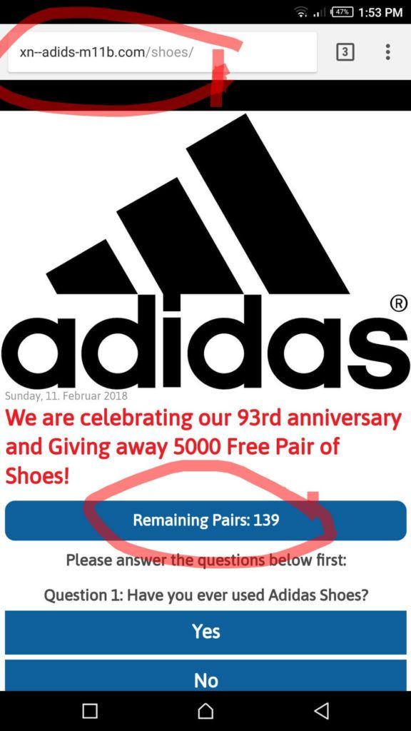 adidas giving free shoes
