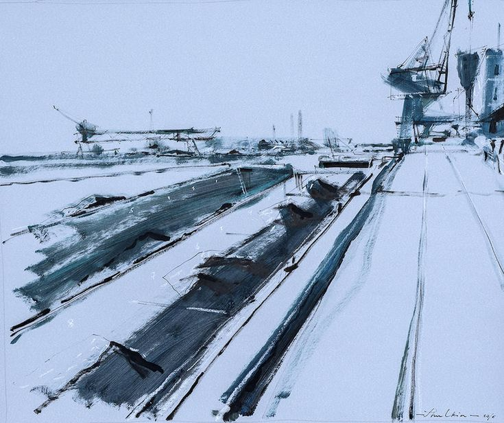 Paintings of Industrial & Urban Places by Helen Sulking.