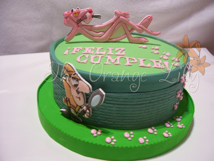 Pink+Panther+cake | cake decorating | Pinterest | Pink ...