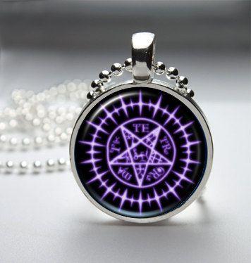 Black Butler Sebastian Seal Pendant Necklace by TacticalDetroit