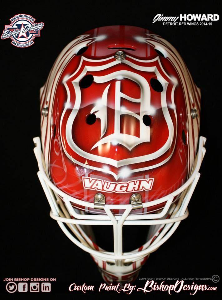 Jimmy Howard's mask for the 2014-15 season