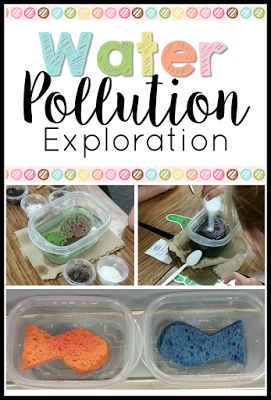 Teaching science is a fun and engaging activity with this science experiment!  Check out this idea on how to help students explore pollution for Earth Day or any science lesson!
