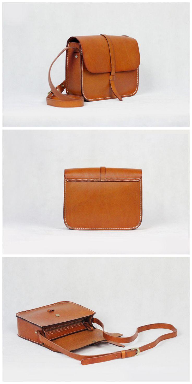 Genuine Leather Satchel Bag  Messenger Shoulder Bag